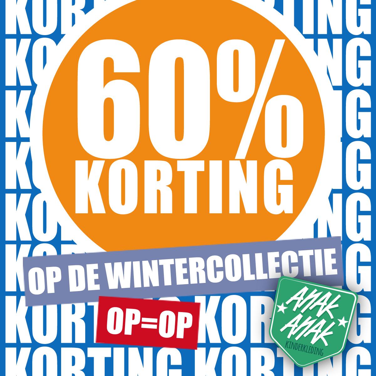 Vanaf 31 Januari de hele wintercollectie 60% korting!!!!!!